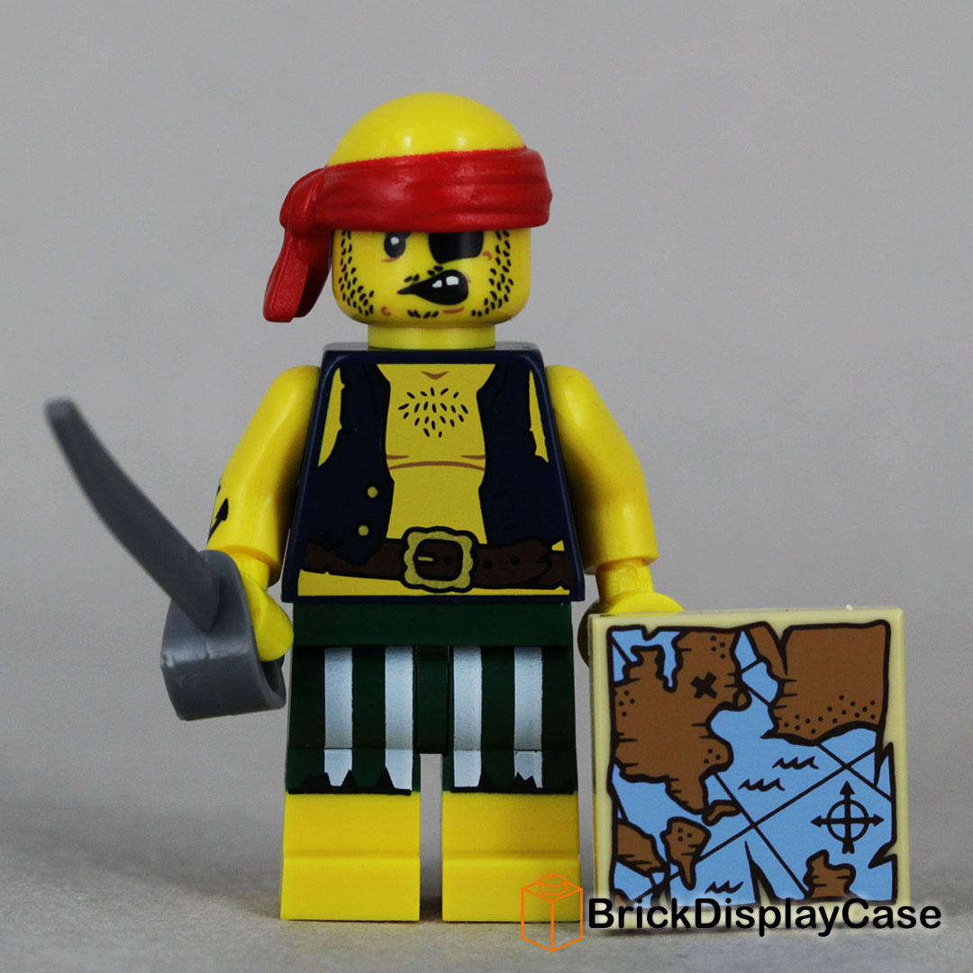 Lego 71013 series 16 SKALLYWAG PIRATE Map Minifigures City Pirates Town New