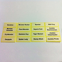 Printed Label for LEGO Minifigures Series 14 Monsters