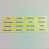 Printed Label for LEGO Minifigures Series 4
