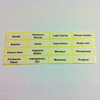 Printed Label for LEGO Minifigures Series 6
