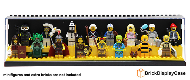 Display Case for Lego Minifigures - White