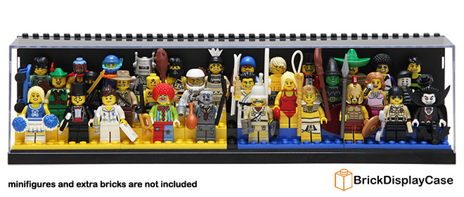Brick Display Case for Lego Minifigures - White